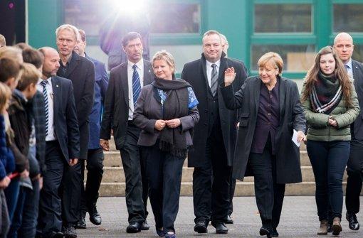 Merkel besucht Angehörige in Haltern