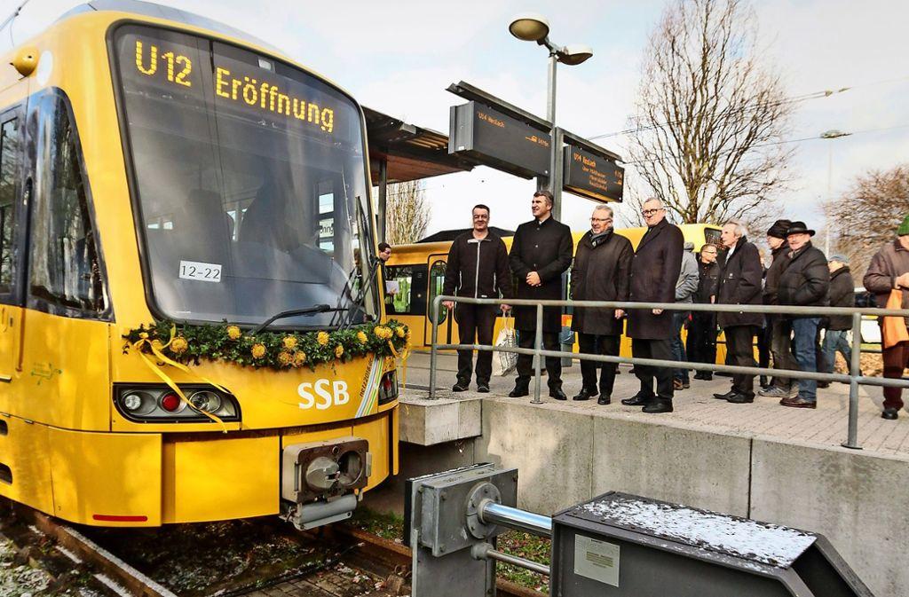 Im Dezember 2017 wurde die U-12-Linie in Remseck eingeweiht. Der Landrat Rainer Haas will die Stuttgarter SSB  bis nach Markgröningen fahren lassen. Foto: factum/Archiv