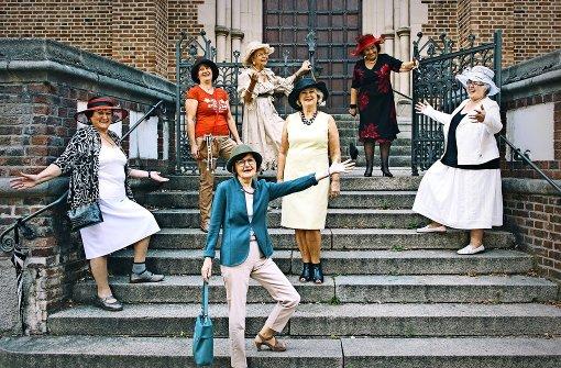 Die Hut-Damen gehen nie oben ohne