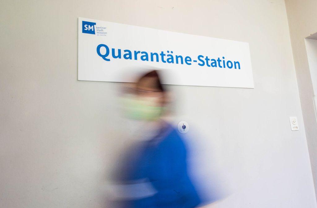 Deutschlands erste Quarantaene-Station fuer coronainfizierte Obdachlose wurde am Mittwoch  in Berlin vorgestellt. Foto: epd/Christian Ditsch
