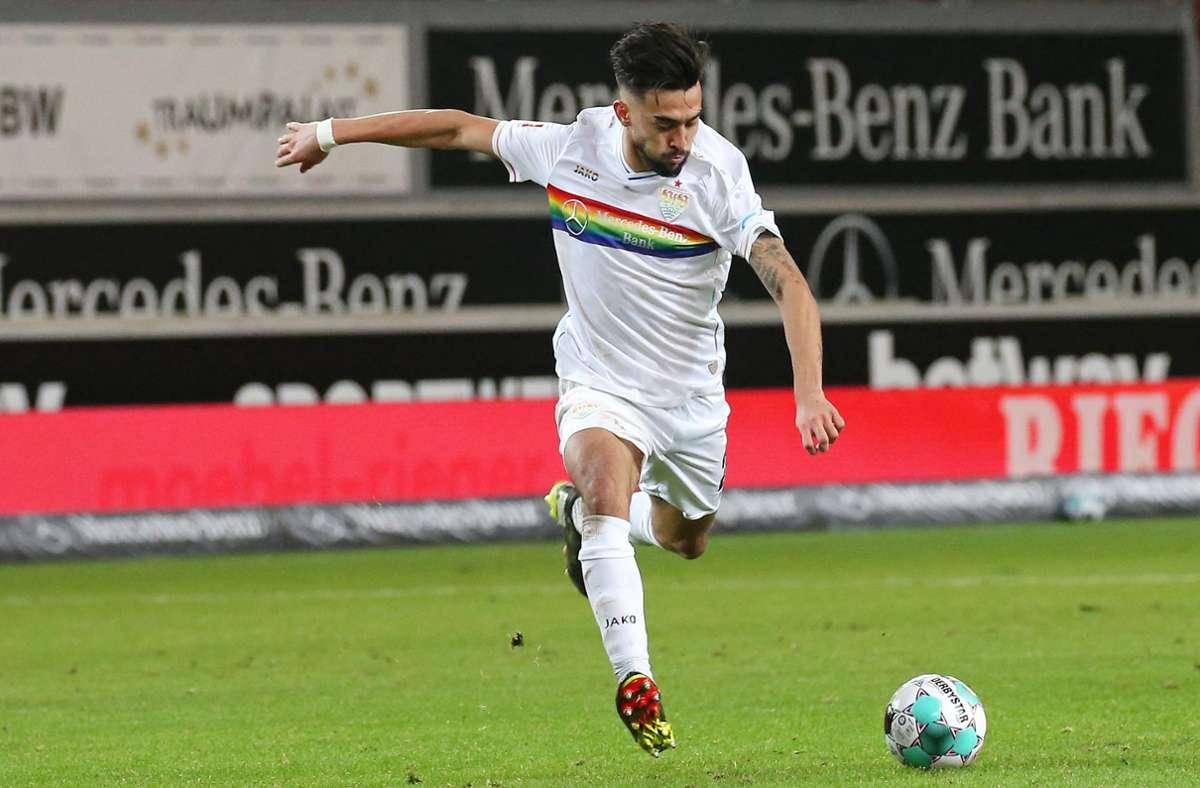 Nicolas Gonzalez vom VfB Stuttgart steht momentan bei sechs Saisontreffern. Foto: Pressefoto Baumann