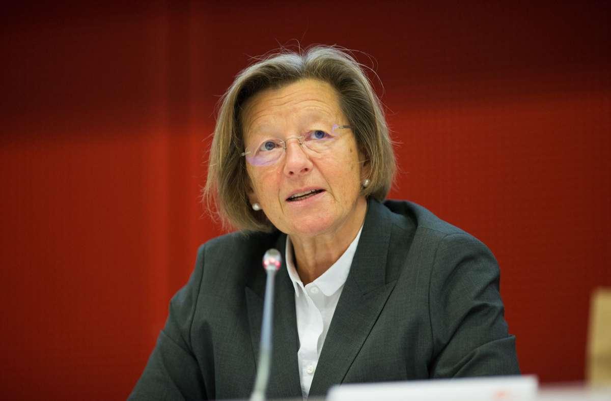 Marlehn Thieme, die Vertreterin der evangelischen Kirche und Vorsitzende des Gremiums, hat die Fernsehratssitzung geleitet. Foto: ZDF/Ralph Orlowski