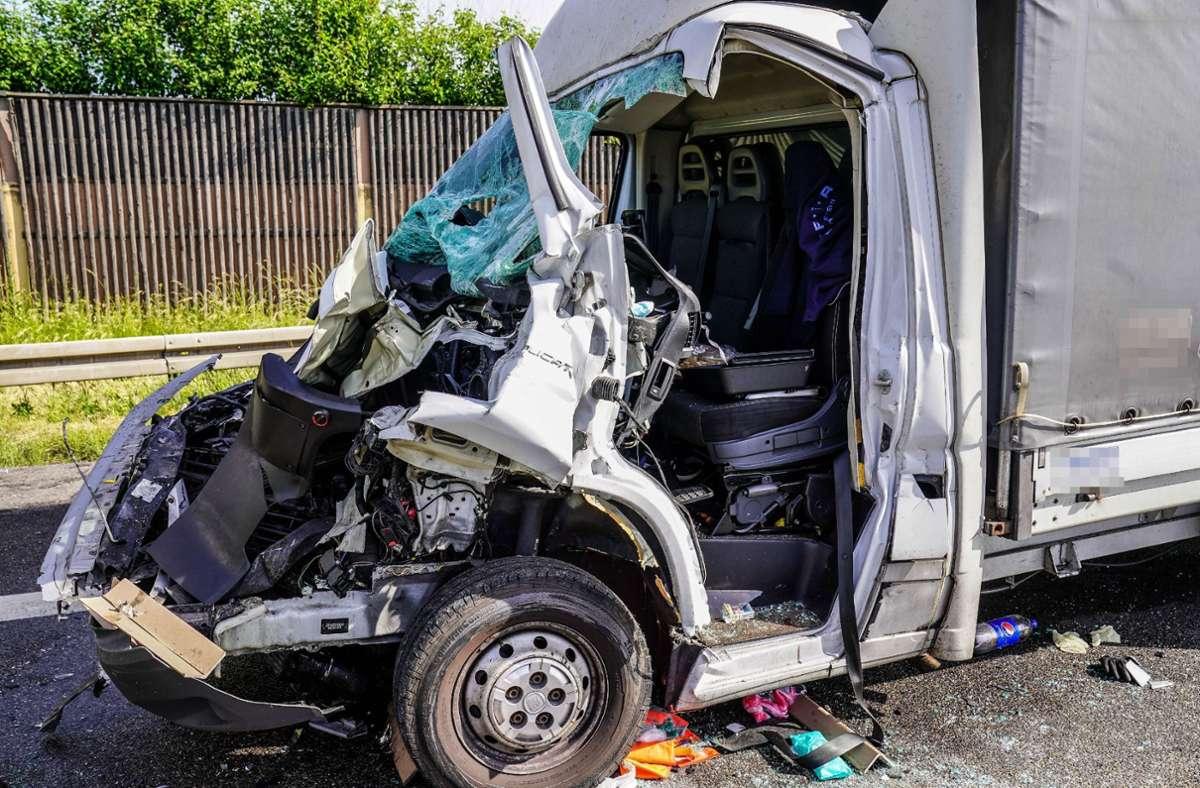 Der Unfall ereignete sich auf der A8 bei Plieningen. Foto: SDMG/SDMG / Kohls