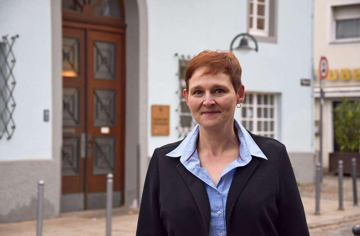 Evelyn Weis kommentiert die Wappen-Debatte nüchtern. Foto: Alexandra Kratz