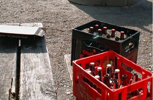 Sogar das Bier wird stehen gelassen