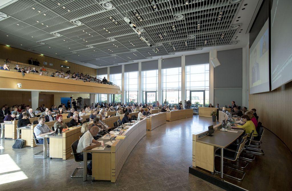 Generaldebatte zum Wohnen im Rathaus Foto: Lichtgut/Leif Piechowski