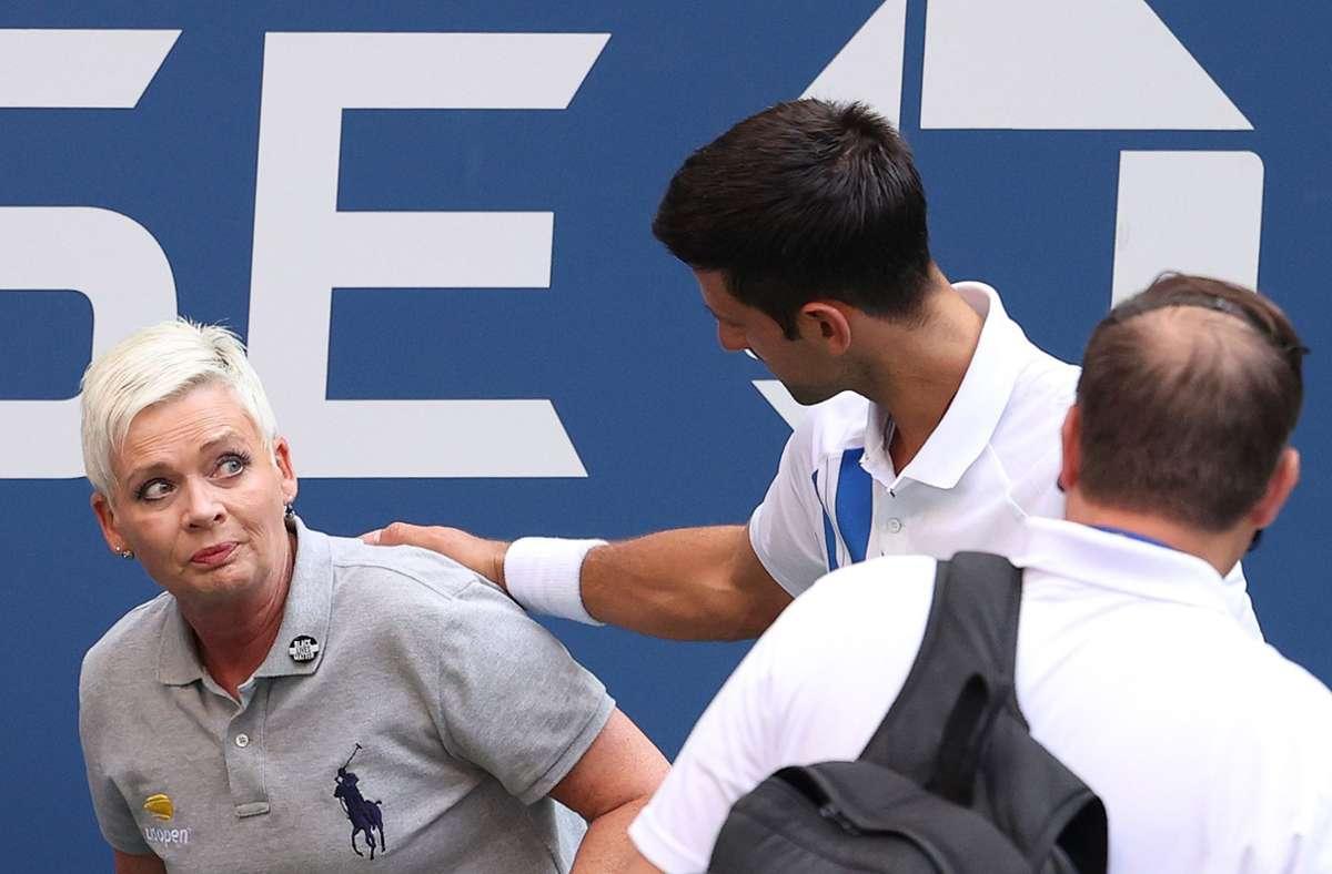 Für Novak Djokovic sind die US Open 2020 beendet. Foto: AFP/AL BELLO