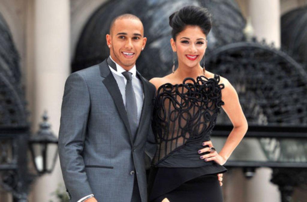 Macht das On-off-Pärchen endlich ernst? Nicole Scherzinger und Lewis Hamilton sollen sich verlobt haben. Foto: dpa