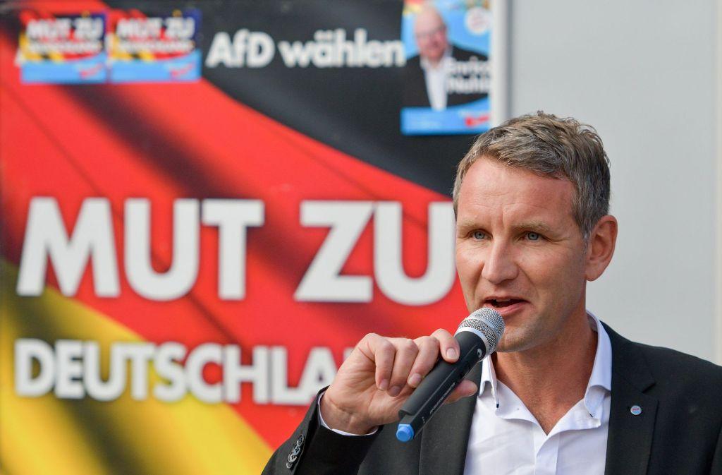 Seine Rede hat die Debatte ins Rollen gebracht: der Thüringer AfD-Landeschef Björn Höcke. Foto: dpa