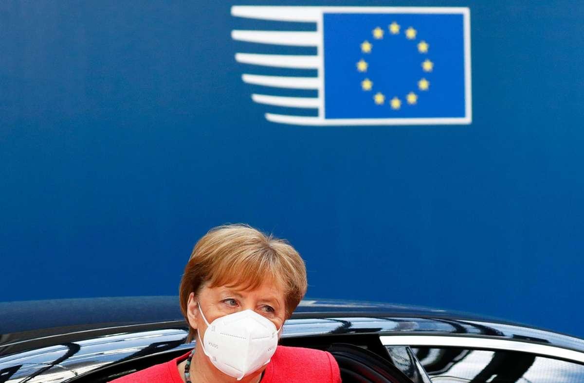 Angela Merkel beim EU-Gipfel Foto: AFP/FRANCOIS LENOIR