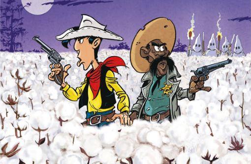 Lucky Luke kämpft mit dem schwarzen Sheriff Bass Reeves  gegen Rassismus