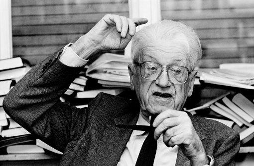 Streitbar: der Tübinger Politologe Theodor Eschenburg 1987. Foto: Ullstein