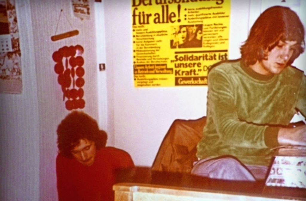 Junge Rebellen: Ewald Bartl und der junge Bernd Riexinger (rechts)Foto:privat Foto: