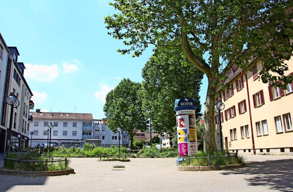 Rund 1,1 Millionen Euro stehen zur Verfügung, um die Fläche zwischen der Grieg- und der Eltinger Straße neu gestalten zu können. Foto: Torsten Ströbele