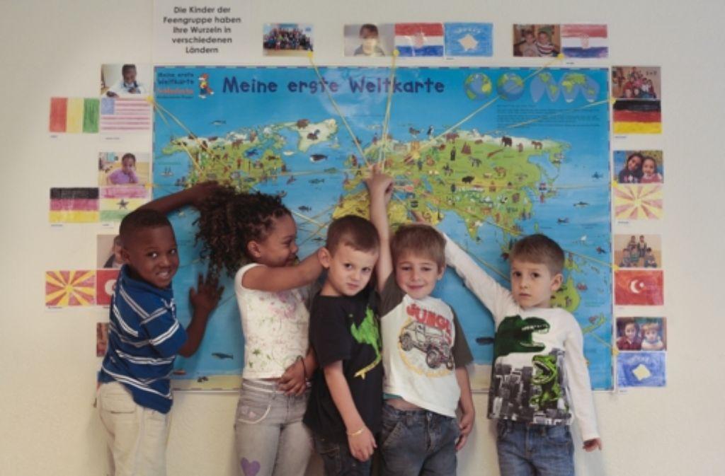 Wie vielfältig soll Deutschland sein? In diesem Sindelfinger Kindergarten gibt es  Kinder mit Eltern aus insgesamt 26 Ländern. Foto: FACTUM-WEISE