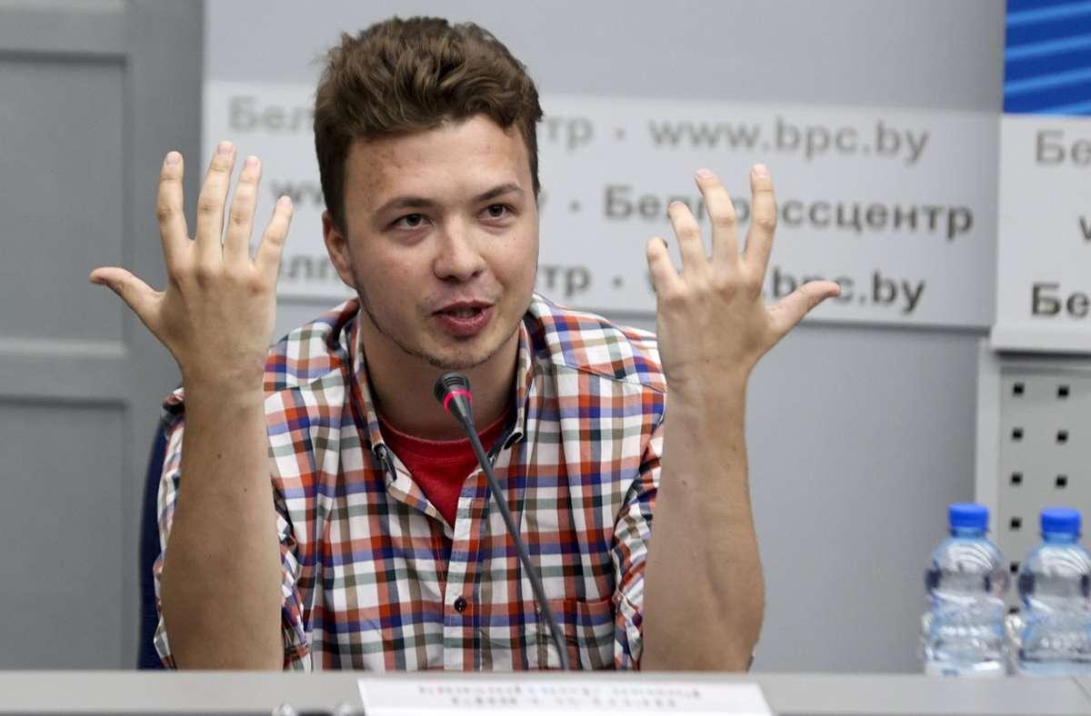 An Bord der Maschine befand sich der im Exil lebende Oppositionelle Roman Protassewitsch. Foto: dpa/Ramil Nasibulin
