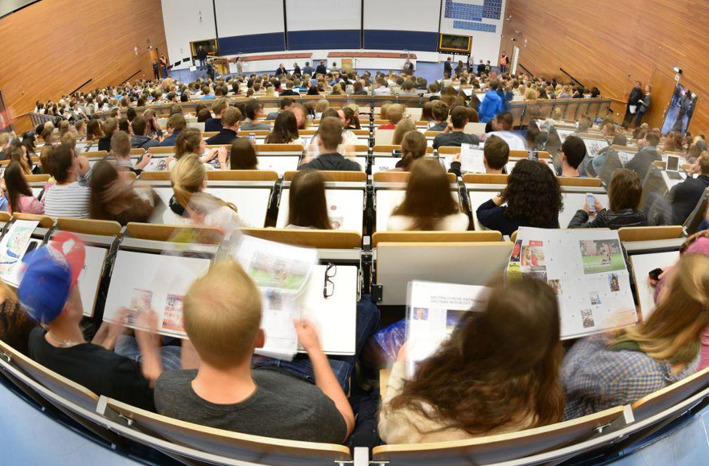 Die Hochschulen müssen die Studienplätze erhalten. Foto: //Uwe Anspach