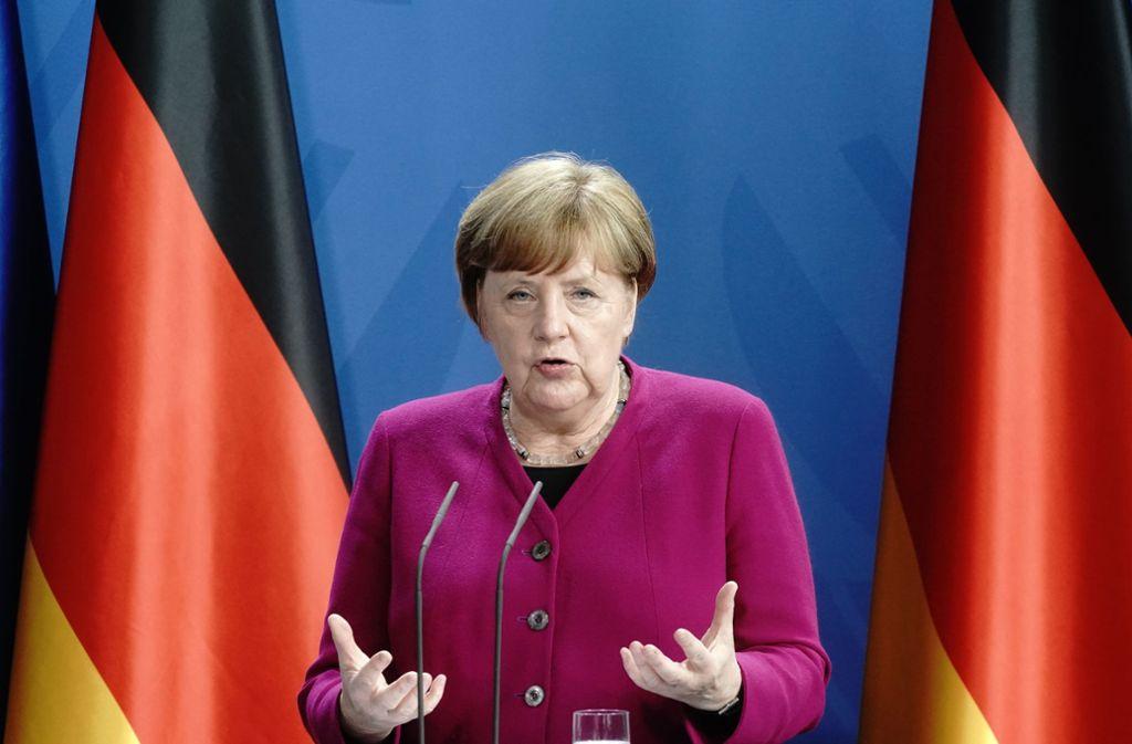Merkel sagte , die Corona-Pandemie stelle die Gesellschaft vor besondere Herausforderungen. Foto: dpa/Kay Nietfeld