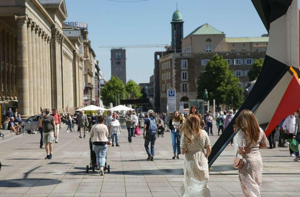 Die Stuttgarter können sich über eine stark gesunkene Inzidenz freuen. Foto: Lichtgut/Leif Piechowski