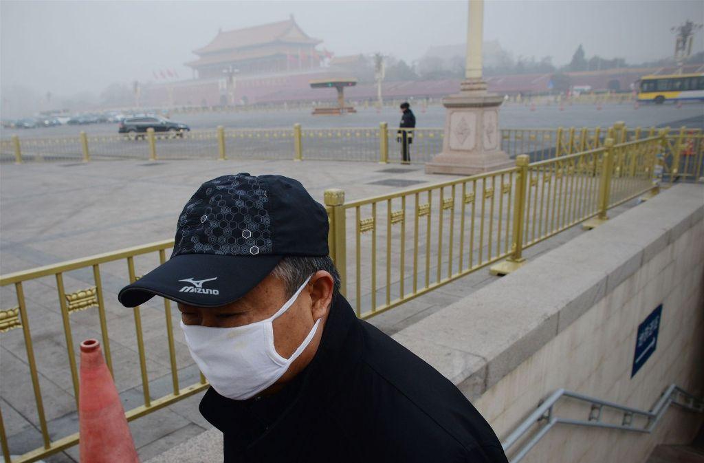 Nordchina liegt unter einer gefährlichen Smog-Glocke. Foto: AFP