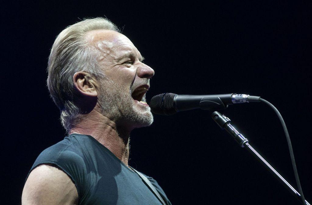 Sting sollte am Donnerstag bei den Jazz Open in Stuttgart auftreten. Foto: AP