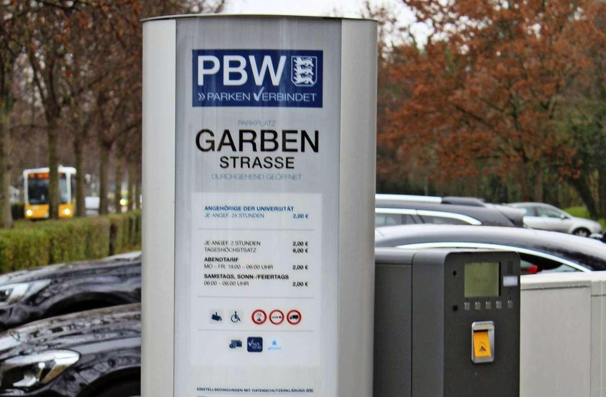 Das Parken auf dem Campus der Uni Hohenheim kostet jetzt. Foto: Jacqueline Fritsch