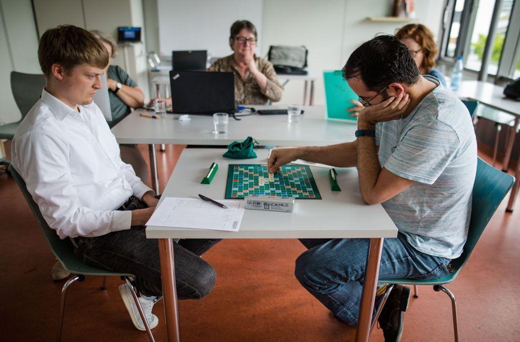 Kann Timon Boerner (links)den Doppelmeister Ben Berger schlagen? Foto: Lichtgut/Christoph Schmidt