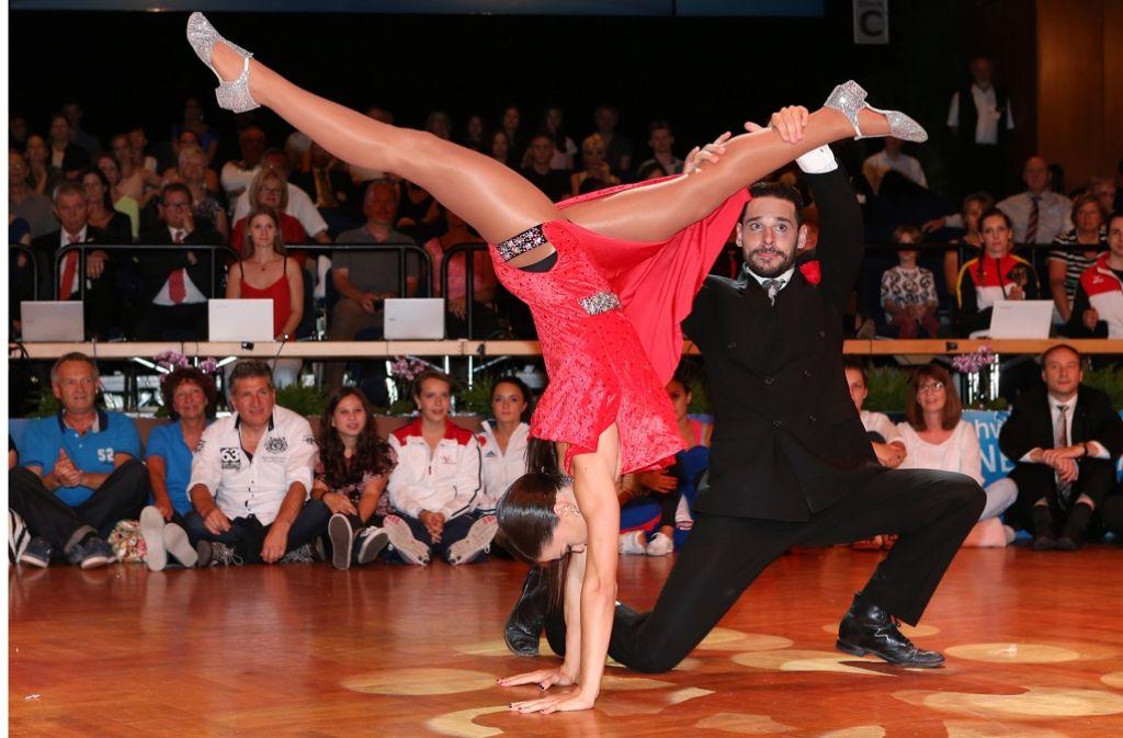 Die German Open in Stuttgart als Eigenwerbung: Der Tanzsport wäre bereit für Olympia Foto: Baumann