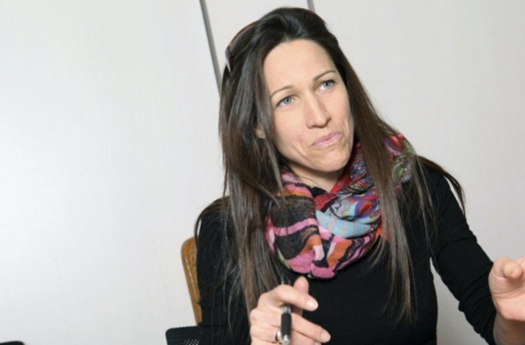 Claudia Urbschat-Mingues sagr die neue Tagesschau an. Kinogänger kennen die 43-Jährige unter anderem als Stimme von Angelina Jolie. Foto: dpa