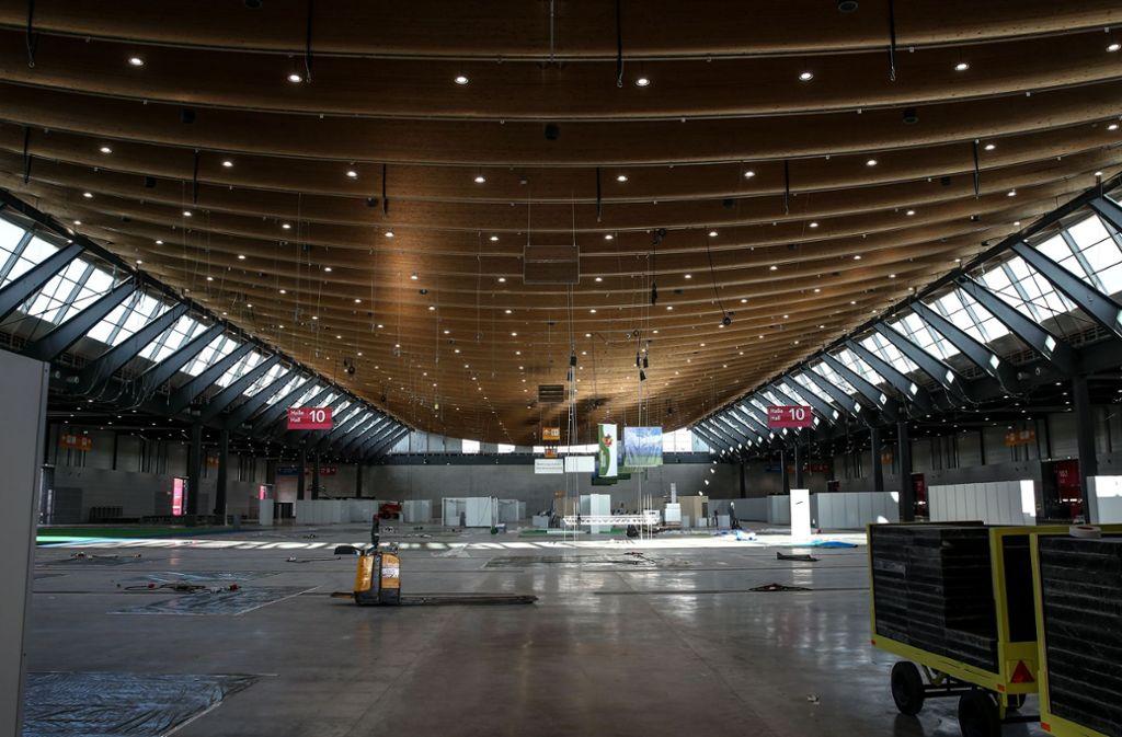 Nach der Eröffnung der Halle 10 im Januar 2018 plant die Landesmesse schon den nächsten Ausbau. Foto: Lichtgut/Leif Piechowski