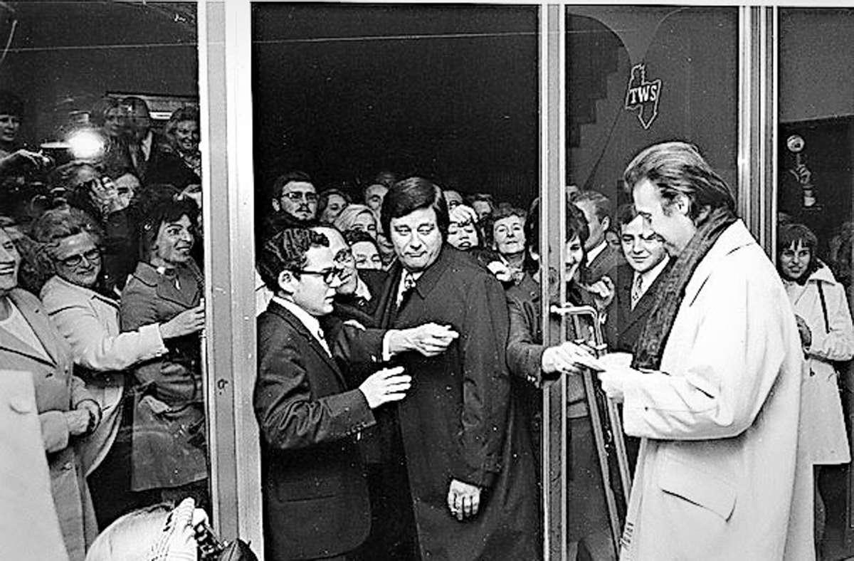 Peter Alexander kam in den 1970ern zur Eröffnung des Innenstadtkino Gloria. Foto: Innenstadtkinos