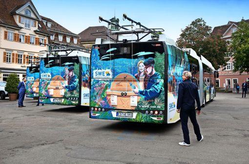 Die neuen O-Busse – eine Art fahrende Esslinger Bilderbücher