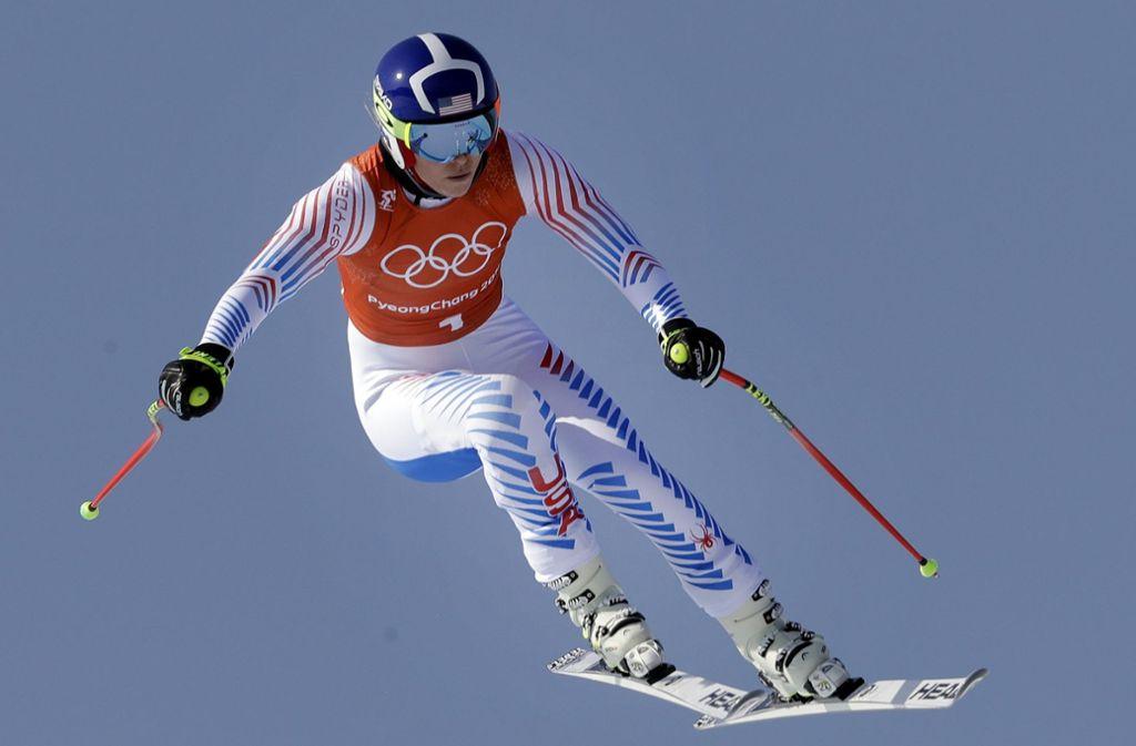 Lindsey Vonn will in der Abfahrt von Pyeongchang noch einmal Gold holen. Foto: AP