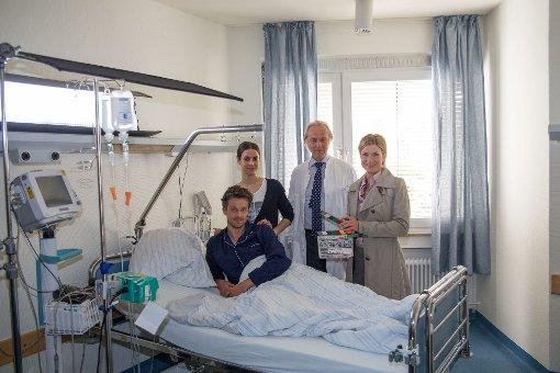 In der Folge Der verlorene Sohn hat Wayne Carpendale (links) einen Gastauftritt bei der Soko Stuttgart. Foto: www.7aktuell.de/Florian Gerlach