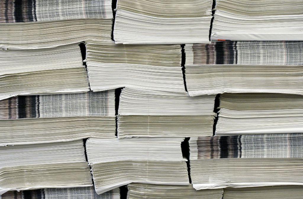 Verleger fürchten um ihre Geschäftsmodelle, wenn die Inhalte der Zeitungen immer leichter kostenlos zugänglich werden. Foto: dpa-Zentralbild