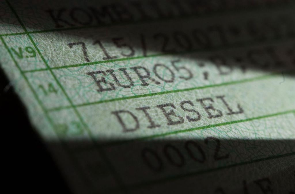 Was passiert mit Diesel-Fahrzeugen der Euro-5-Norm? Foto: dpa