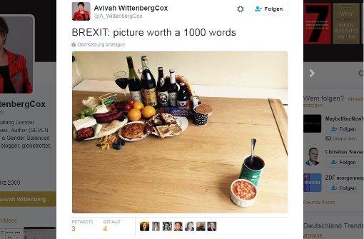 Nach dem Brexit gibt es nur noch Bohnen