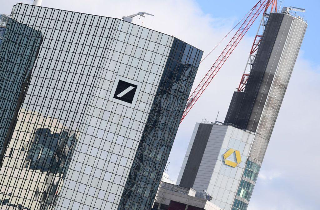 Deutscher Bank und Commerzbank gehen weiter getrennte Wege. Foto: dpa