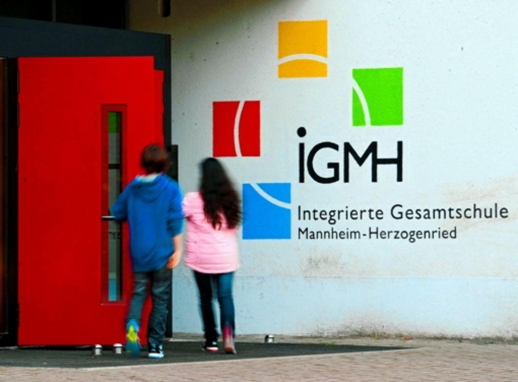 Die Gesamtschule Mannheim ist eine von drei im Südwesten. Auf neuer Basis erweitern  im Herbst 40 Gemeinschaftsschulen das Schulsystem. Foto: dpa