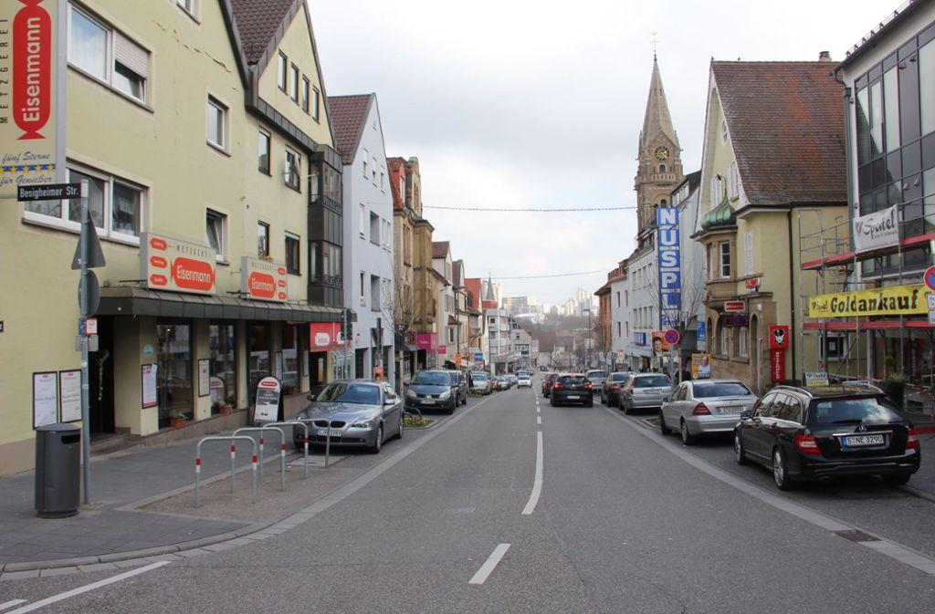 Die meisten Geschäfte gibt es an der Unterländer Straße. Dennoch ist die Einkaufsmeile nicht besonders attraktiv. Foto: Archiv Bernd Zeyer