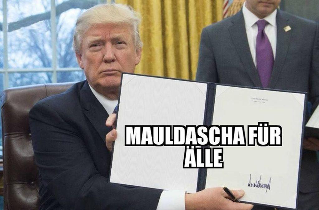 """Mol a gscheits Gsetz. Foto: Facebook-Screenshot """"Schwoba Memes"""""""