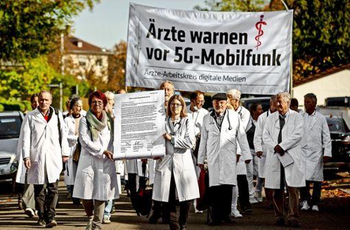 Ärzte protestieren gegen 5G-Mobilfunk