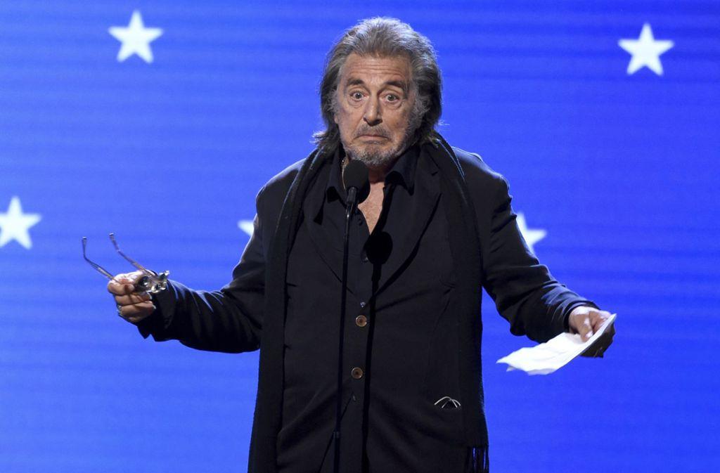 """Al Pacino ist für seine Nebenrolle in """"The Irishman"""" für den Oscar nominiert – nicht die einzige   Chance für Netflix, sich mit Preisen zu schmücken. Foto: AP"""
