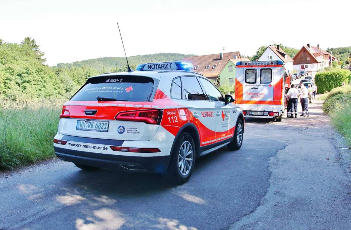 In Althütte hat sich am Sonntagnachmittag ein schwerer Unfall ereignet. Foto: 7aktuell.de/Kevin Lermer