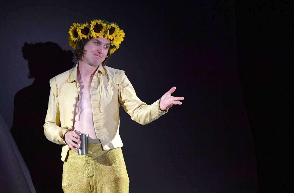 Lars Eidinger als Jedermann bei den Salzburger Festspielen Foto: dpa/Barbara Gindl