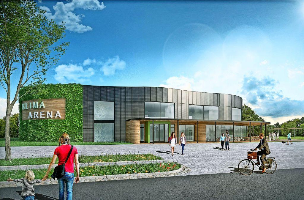 Das Konzept für das geplante Klima-Zentrum steht. Im Herbst soll der Spatenstich sein, in zwei Jahren Eröffnung. Foto: Klimastiftung für Bürger