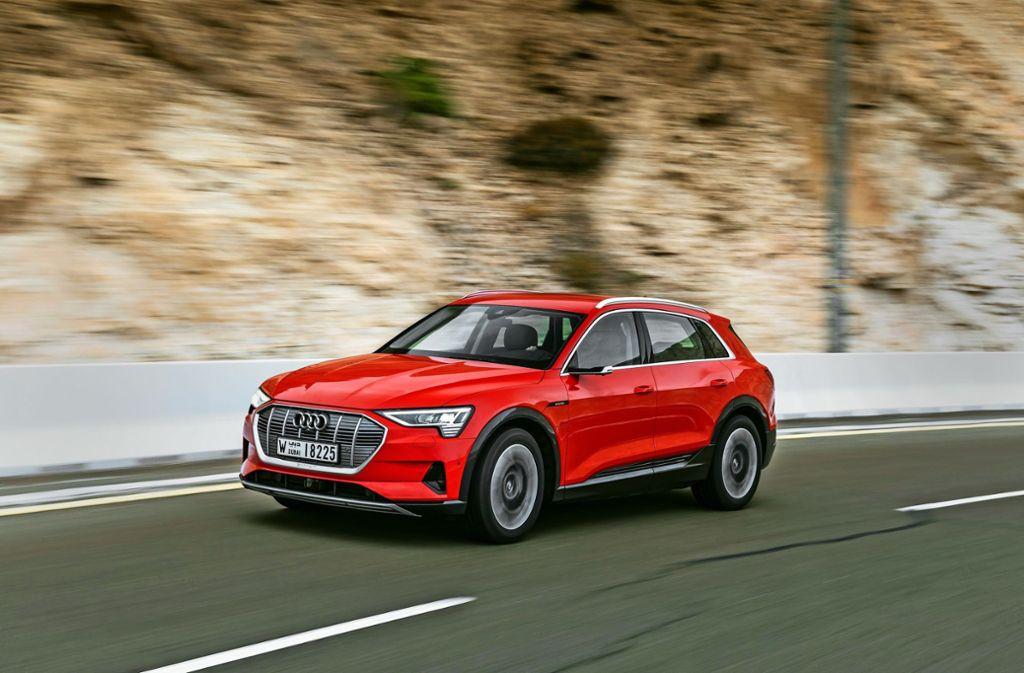 Betroffen vom Rückruf sind 7000 Audi e-Tron, 2300 davon in Deutschland. Foto: Audi