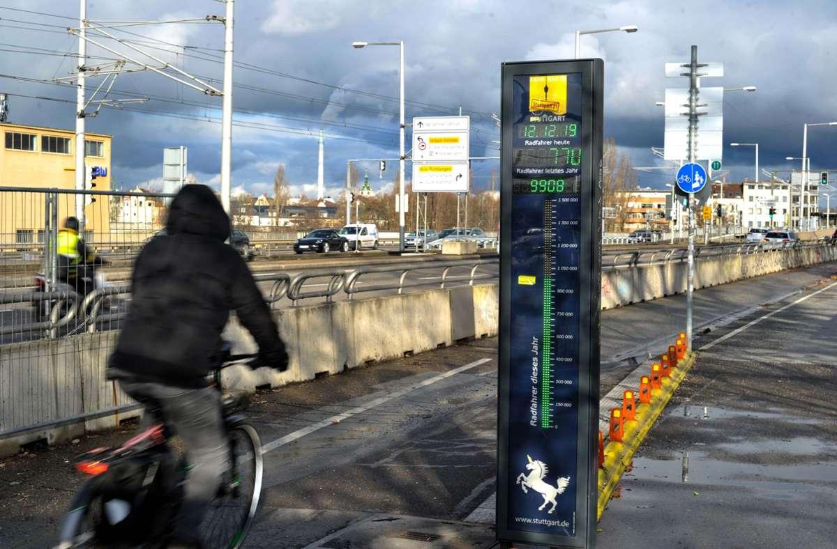Radfahrer auf der König-Karls-Brücke (Symbolbild). Foto: Lichtgut/Max Kovalenko