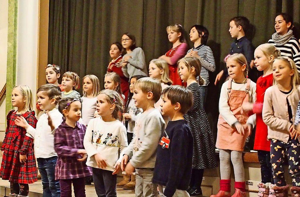 Ein Kinderchor des Liederkranzes bei einem seiner Auftritte Foto: