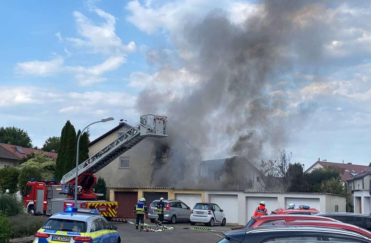 In Waiblingen ist es am Dienstagabend zu einem Brand gekommen. Foto: 7aktuell.de/Simon Adomat